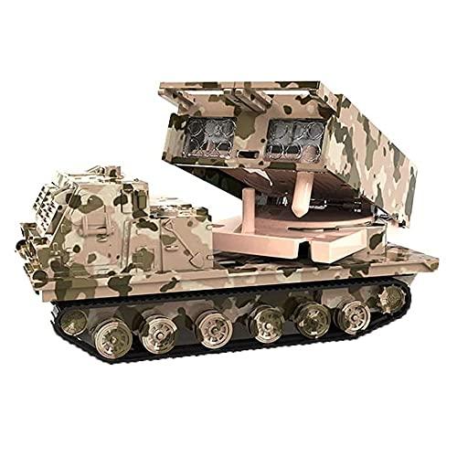 Yjdr speelgoedauto Simulación Lanzacohetes de Largo Alcance Modelo Coche de Juguete, Coche blindado con orugas Toy Boy Gift, Metal Anti-Fall Pull Back Coche de Juguete para niños
