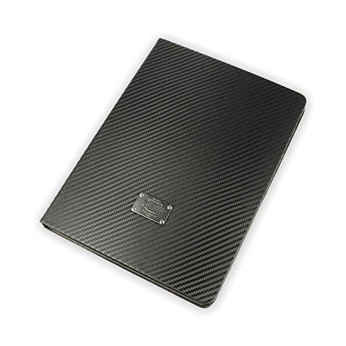 QIOTTI Tasche Kompatibel mit iPad Air 2 Tasche Leder Case I Auto aufwachen Schlaf Funktion I Ledertasche Kartenfach Standfunktion Echtleder Hülle Lederhülle