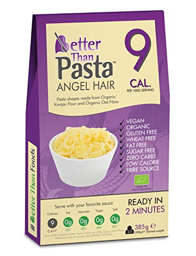 Better Than Pasta Angel Hair Zero Carbohydrate 385 Grams | Made from Gluten Free Organic Konjac Flour | Keto Paleo Diet and Vegan | Zero Sugar and Low Calorie Food (6)