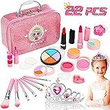 Jojoin Trucchi Bambina Set, 22 Pezzi Lavabile Makeup Set di Cosmetici con Corona Rosa Prin...