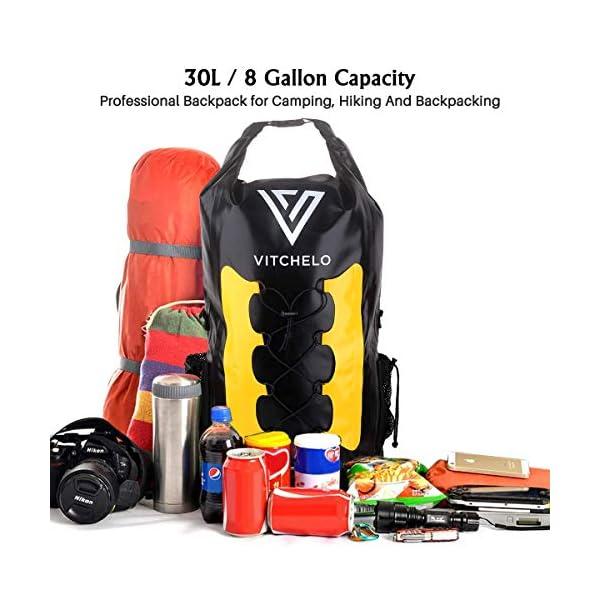 51EKUCMlGLL. SS600  - Mochila impermeable de 30L Ideal para navegación Kayak Canoa Vela Deportes acuáticos Snowboard esquí Senderismo Trekking…