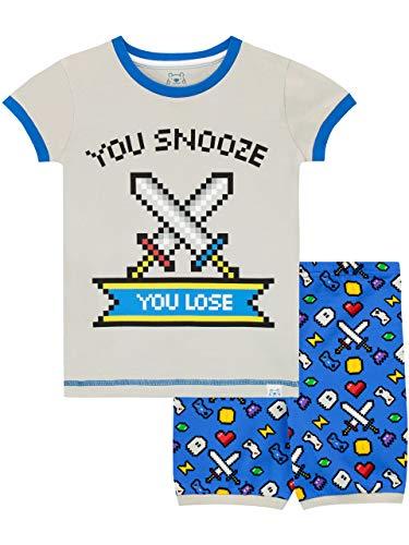 Harry Bear Jungen Gaming Schlafanzug Kurz Blau 152