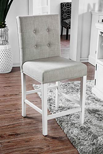 William's Home Furnishing Sutton Parson Chair, Antique White