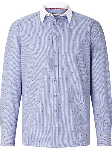Shirt Master Herren Hemd Whitecollarguy blau 2XL (XXL) - 45/46