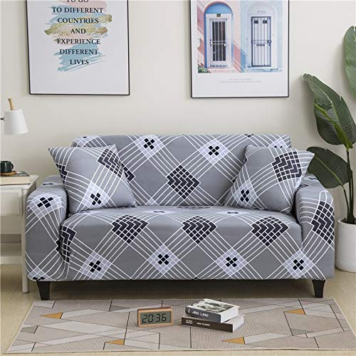 PPMP Funda de sofá elástica Floral Fundas de sofá para Sala de Estar Protector de Muebles de poliéster Fundas Funda de sofá A3 2 plazas