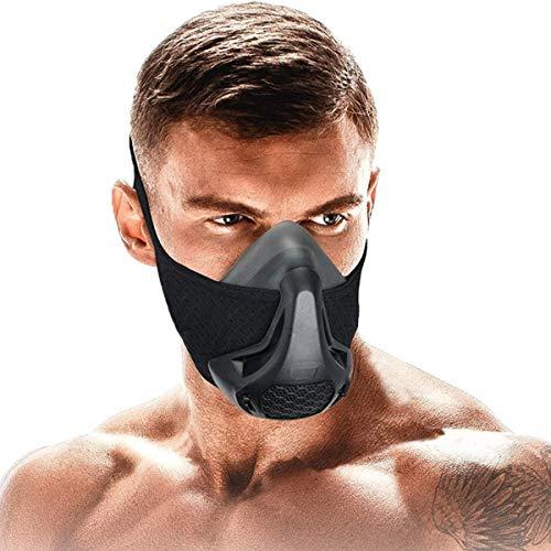 SATKULL Trainingsmaske, 24 Atemwiderstandsstufen, Fitness-Maske, Workout-Maske, Training in hoher Höhe, Fitness-Maske für Cardio, Fitness, Laufen, HIIT-Training, verbesserte Version