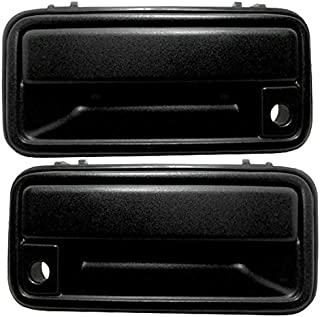 Outside Exterior Textured Door Handles Pair Set Front Replacement for 95-00 GM Pickup Truck SUV 15742229 15742230