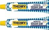 Thomy Spicy Sweet Bavarian German Mustard - Wurzig Susser Senf - 3.5 Ounce Tube (100 ml) (Pack of 2)