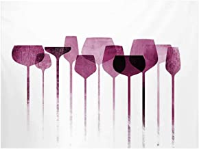 Wine Photography Background,Conceptual Collage Artwork with Paper Textured Party Glasses Alcohol Drink Print Decorative Backdrop for Studio,7x5ft
