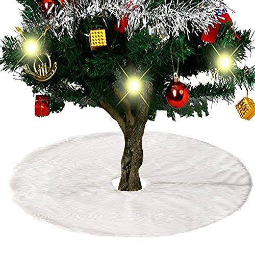 Ghopy Weihnachtsbaumdecke Weihnachtsdeko Weihnachtsbaum Schürze Weihnachtsbaum Rock Plüsch Christmasbaumdecke Weihnachten Weihnachtsfeiertag Party Urlaubsdekorationen (90cm)