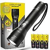 AMAFOX G10 - XENON Ultrabeam Power-LED Taschenlampe - Extrem Hell, dimmbar & mit Zoom - inkl. 4x AA Batterien