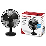 Honeywell ComfortControl Oszillierender Tischventilator HTF1220BE, schwarz, 4022167312006