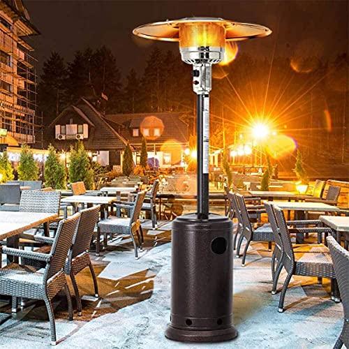Calentador de patio de gas para exteriores,Calentadores de jardín de pie Lámpara de calefacción para el restaurante del patio trasero del garaje 5000-13000W altura ajustable-natural gas