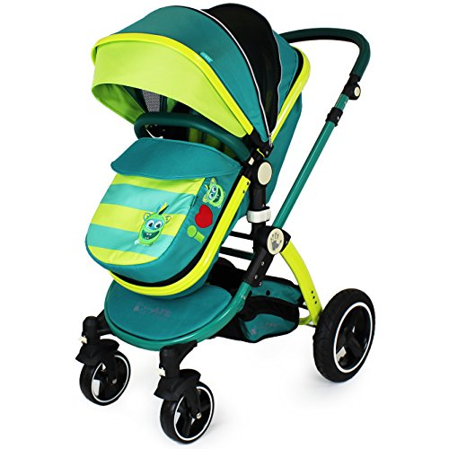 iSafe Lil Friend Pram & Luxury Stroller 2in1 Complete with Rain Cover