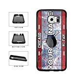 BleuReign(TM) Personalized Custom Name Hockey Team License Plate Chicago Phone Case TPU RUBBER SILICONE Phone Case Back Cover For Samsung Galaxy S7