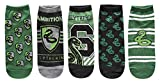 Harry Potter Slytherin Juniors/Womens 5 Pack Ankle...