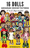 16 Dolls Amigurumi Crochet Patterns 20' to 24' Boys and Girls | Intermediate : Easy to Follow Project Book with Instructions and Pictures | Clothes, Hats, and Accessories (English Edition)