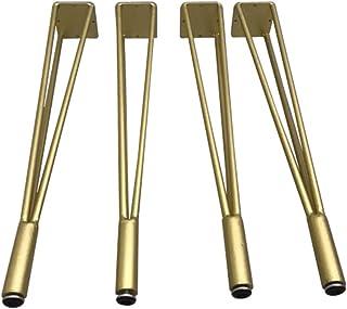 Pieds de Table en Fer forgé doré Pieds de Table en métal Support de Table Cadre de Table Basse Pieds de Table à Manger Pie...