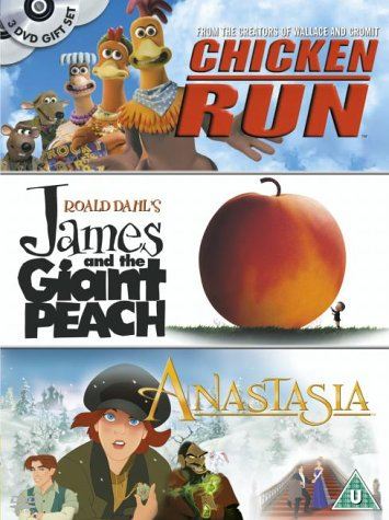 Chicken Run/James And The Giant Peach/Anastasia [3 DVDs] [UK Import]