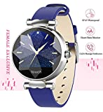 Smart Watch, Fitness Tracker with Heart Rate Monitor & Blood Pressure & Sleeping Monitor for Android & iOS, Waterproof Smartwatch with Step & Calorie Counter for Women, Activity Tracker for Ladies