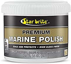 Star brite Premium Marine Polish with PTEF - Boat Wax That Seals & Protects Gel Coat with a High Gloss Finish, Tub 14 oz