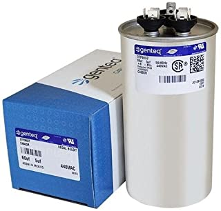 GE Genteq Round Capacitor 60 5 uf MFD 440 Volt Z97F9897 97F9897