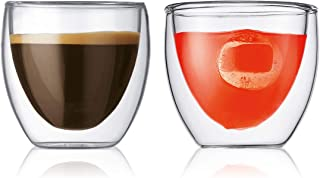 Bodum - 4557-10 - Pavina - Set de 2 Verres Double Paroi espresso - 8 cl