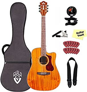 Guild D-120CE Acoustic-Electric Guitar with Case and Accessory Pack Natural [並行輸入品]