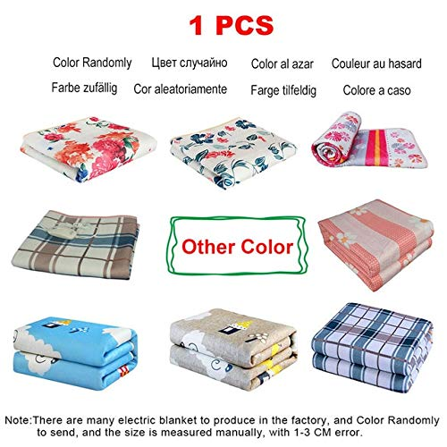 Electric Blanket 220v Thicker Plush Electric Heating Blanket Thermostat Throw Blanket Double Body Electric Blanket Heater Warmer Single Body 70x150cm 1pcs Color Randomly
