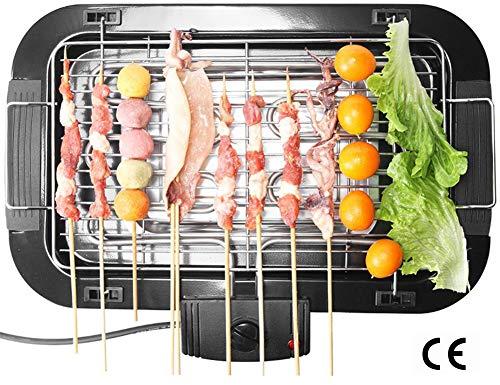 Elektrische grill Indoor 2-in-1 Pancake bakplaat Grill Smokeless Non-Stick met Cool-Touch Handle, 5-Level Control, 1360W