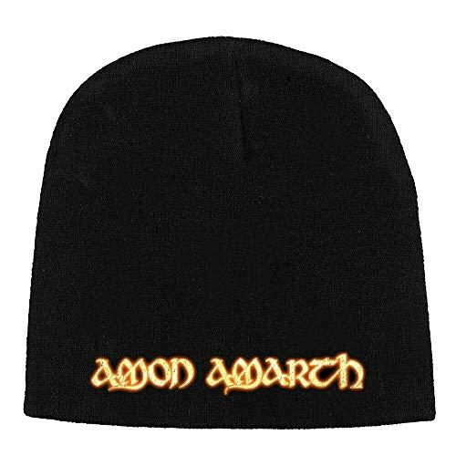 Amon Amarth Beanie Gold Logo Mütze Strickmütze Cap Kappe