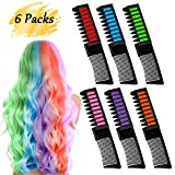 BEARBRO 6 Colores Tizas de Pelo, Peine Temporal Hair Chalk S
