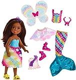 Barbie Dreamtopia, muñeca morena Chelsea sirena, juguete +3 años (Mattel FJD01)...