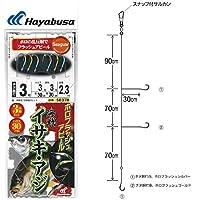 ハヤブサ 海戦イサキ・アジ ホロフラッシュ 3本鈎2セット 30cmハリス SE378 3-3