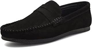 Xujw-shoes, Penny Loafers Mens Shoes for Men Solid Color Soft Boat Moccasins Slip On Style Pigskin Leather Casual Business Lightweight Low Top Breathable Comfortable