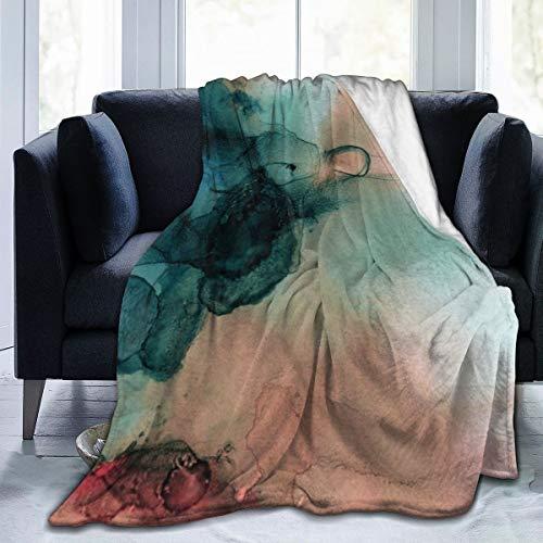 Meiya-Design - Manta de Forro Polar de 127 x 152 cm, diseño de tifón Azul, Forro Polar, Suave, cálida, para Cama, sofá, Oficina, Camping