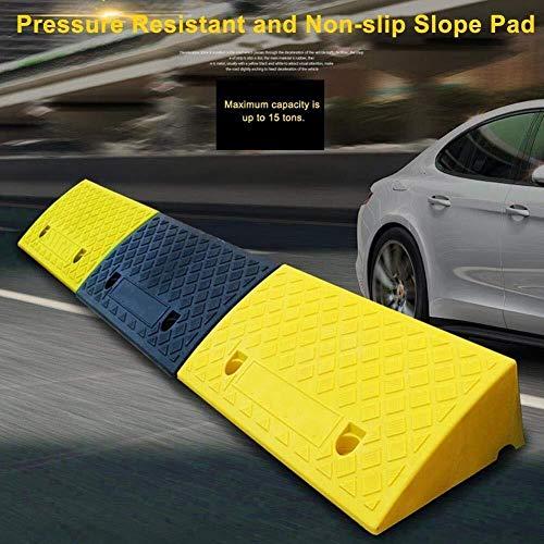 Wz Kerb Ramp, Draagbare Kerb Ramps Lichtgewicht Plastic Stap Helling Mobility Drempel Ramps Voor Auto Fiets Motorfiets Rolstoelen 50 * 27 * 9cm Geel