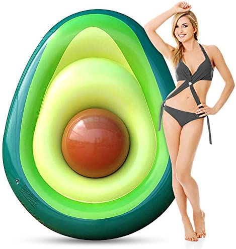 Inflatable Pool Float for Adults Giant Avocado floaties with Ball Large Water Rafts Float Toys product image