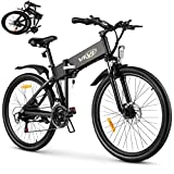 VIVI S3 Electric Bike Electric Mountain Bike, 26'' Folding Electric Bicycle for Adults, 20Mph with 36V 8Ah Lithium-Ion Battery, 250W Motor and Shinmano Professional 21 Speed Gears, Black