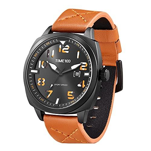 TIME100 Orologio sportivo digitale militare elettronico impermeabile luminoso giapponese orologio da polso per uomini donne marrone