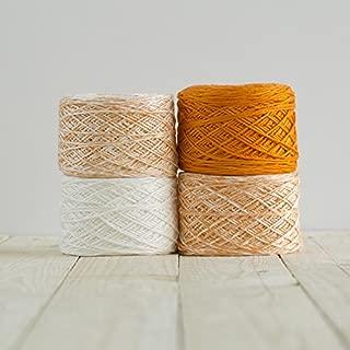 Feza Turkish Yarn Prewound Premium Baby Blanket Kit-Hand Dyed Extra Soft Light DK Weight-Orange 507