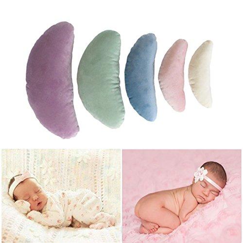 Tee-Moo 5 STKS Pasgeboren Baby Fotografie Props, Crescent Posing Kussen Mand Filler Zijde Props