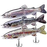 L-MEIQUN, Señuelos de Pesca Metal Swimbaits articulados Glidebaits Señuelos Duros for el bajo Aparejos de Pesca Lucio Cebe for Peces Grandes (Color...