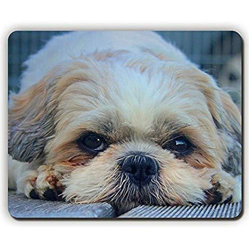Mauspad, Shih Tzu Hund Maulkorb Look Furry Spiel Büro Mousepad 24,9 x 19,8 cm
