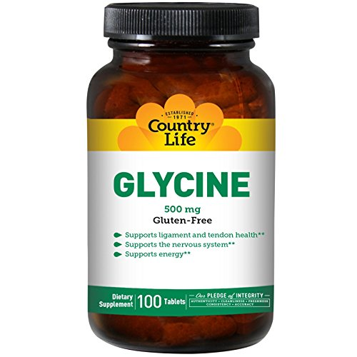 Country Life Glycine, 500 mg with B-6-100 Tablets