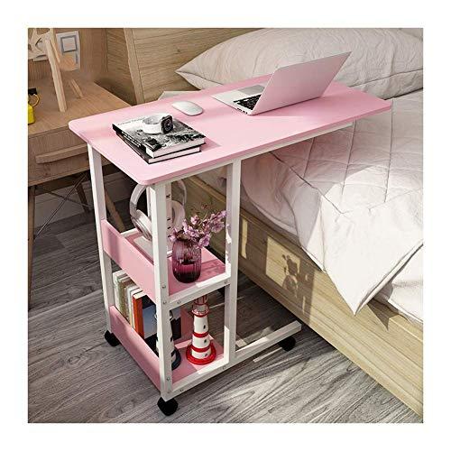 Chunjiao Mesa, Escritorio de Soporte móvil, Escritorio de computadora móvil Adecuado para Dormitorio, Sala de Estar, balcón Mesa Plegable/Mesa para Ordenador (Color : Pink)