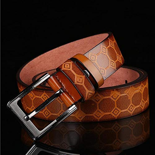 GTUQ Cinturón Nuevo año Nuevo Casual Retro PU Microfibra cinturón Lavado cinturón de Hombre Adecuado para Pantalones Casuales, Ropa Formal. (Belt Length : 125cm, Color : Coffee)