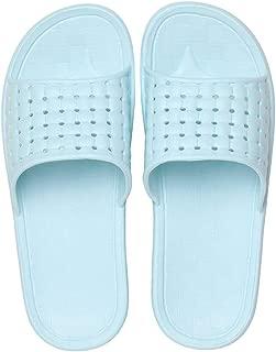 Lightweight Bath Slippers, Gym Slider Sandals for Women, Garden QuickDrying Home Ultra Soft Slippers,Blue,M