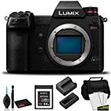 Panasonic Lumix DC-S1R Full-Frame Mirrorless Digital Camera (Body Only)-Bundle with 64GB Memory Card + More