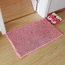 Bathroom Skid Mat Home Mat Bedroom Water Absorption Rug Bath Mat Washable Soft mat (Color : Pink, Size : 40x60cm)